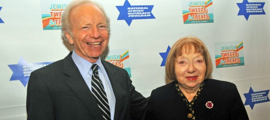 Sen. Joe Lieberman and Fanya Heller
